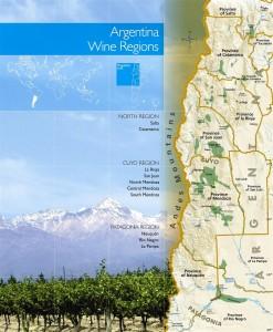 Carte des vignobles - <H2>Argentine</H2>