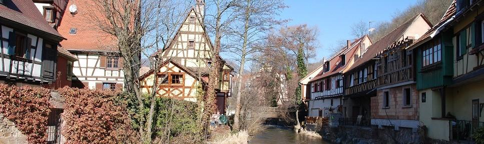 Village de Kaysersberg, dans le Bas-Rhin - Alsace