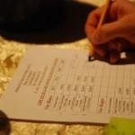 Feuille de commande du domaine Parigot à Meloisey - Quitou Wine Travel