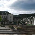 La place du jet d'eau à Santenay