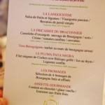 Menu gastronomique du restaurant Le Terroir à Santenay