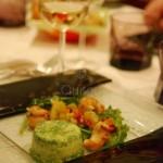 Salade de langoustines aux agrumes - Bavarois de persil