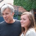 Christophe Goulin et sa fille, du champagne Goulin-Roualet à Sacy dans la Montagne de Reims