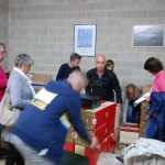 Préparation des caisses de champagne chez goulin-roualet à Sacy