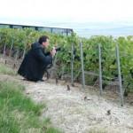 Jean-François Buslain, en reportage dans les vignes de Villedommange