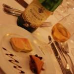 Foie gras et pain d'épices au restaurant Le Théâtre à Epernay - Pinot gris Grand Cru Osterberg 2005 du domaine Ostermann