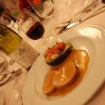 Mignon de veau sauce au chaource - Jardinière de légumes - restaurant Le Théâtre à Epernay