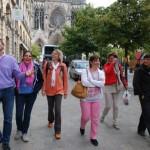 A la sortie de la Cathédrale de Reims
