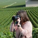Veronique roelandt, photographe de Quitou Wine Travel dans les vignes de Verzenay