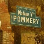 Plaque Veuve pommery dans les caves Pommery à Reims