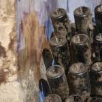 Bouteilles sur pupitres - Caves Pommery à Reims