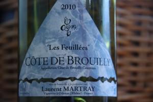 """côte de brouilly """"Les Feuillées"""" 2010 - Domaine Laurent Martray"""