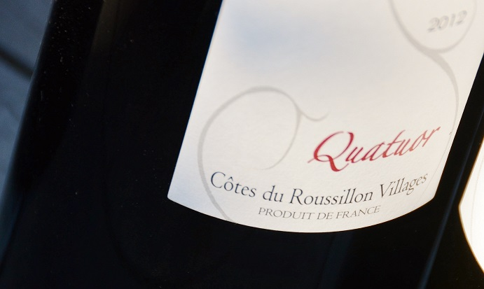 cotes du roussillon villages rouge - quatuor - domaine la toupie