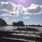 En gabarre sur la Loire - Secteur de Langeais