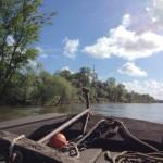 En gabarre sur la Loire-Secteur de Langeais