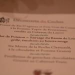 Menu du restaurant Au Chapeau Rouge - Chinon
