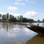 Gabarre sur le fleuve - Environs de Langeais