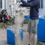 Filets et nasses de pêche de Romain Gadais, pêcheur professionnel en Loire