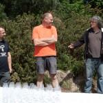 Laurent Herlin et Xavier Amirault, vignerons et Franck Kukuc, buveur de poèmes
